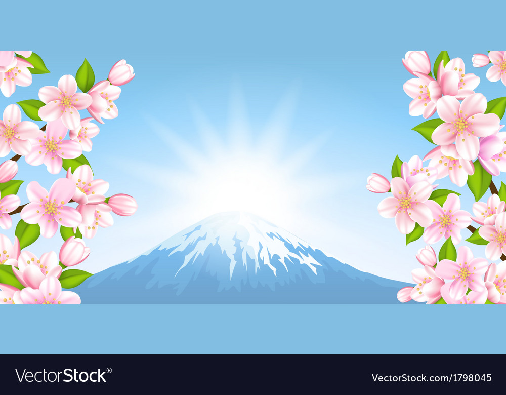 Japanese landscape vector | Price: 1 Credit (USD $1)