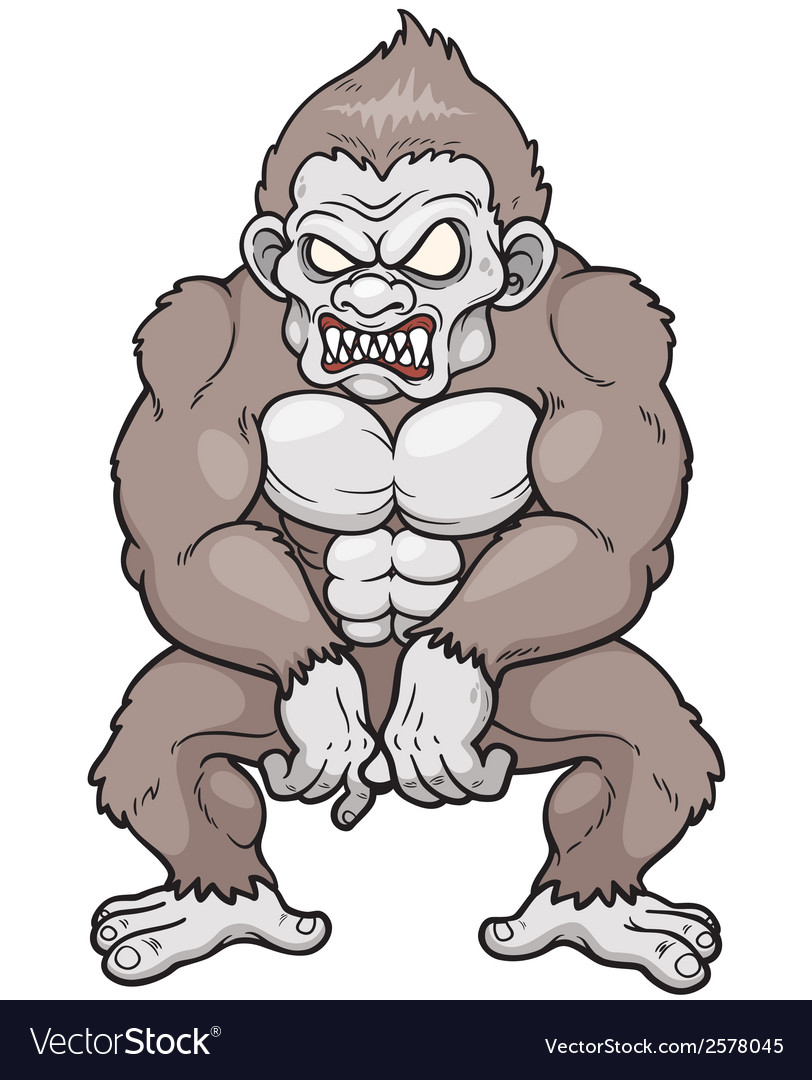 Monkey monster vector | Price: 3 Credit (USD $3)