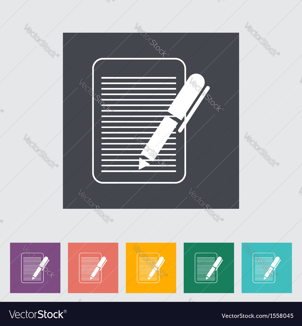 Paper with a pen vector | Price: 1 Credit (USD $1)