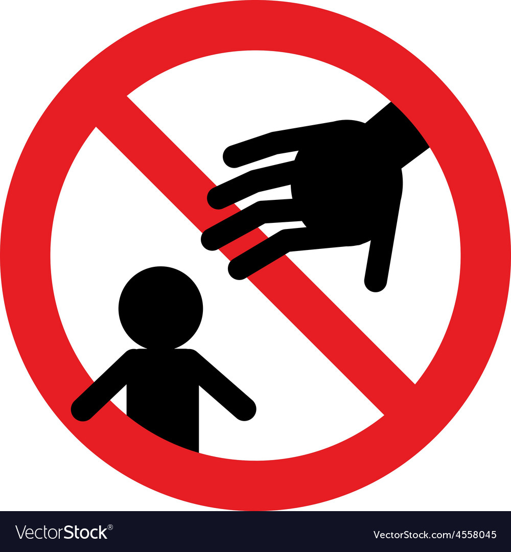 Prohibition signs do not touch my baby vector | Price: 1 Credit (USD $1)