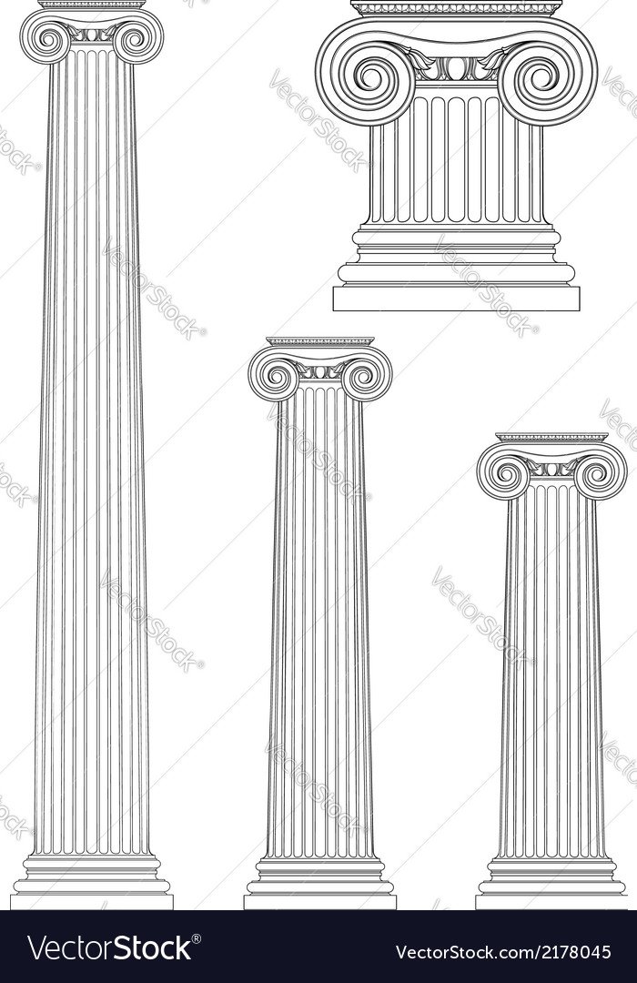 Set of ionic column vector | Price: 1 Credit (USD $1)