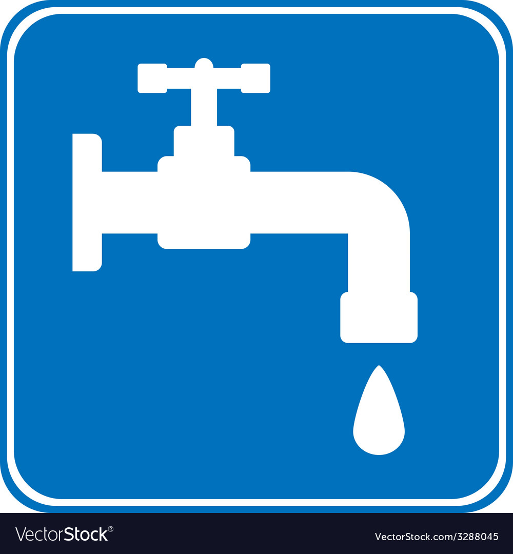Water tap button vector | Price: 1 Credit (USD $1)