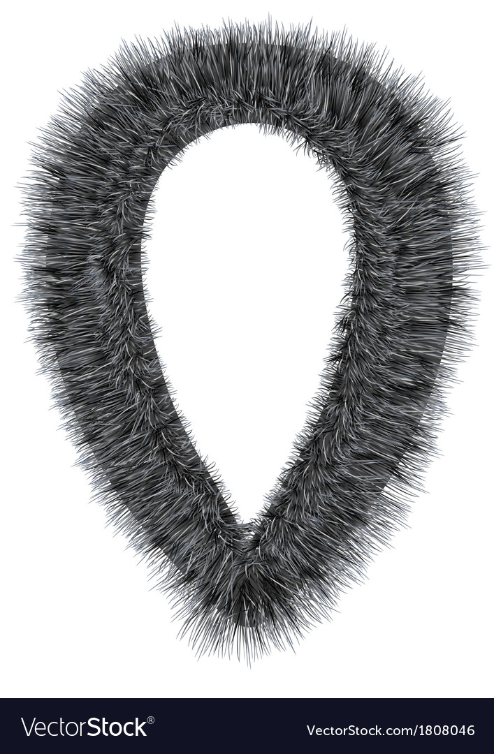 Fur collar vector | Price: 1 Credit (USD $1)