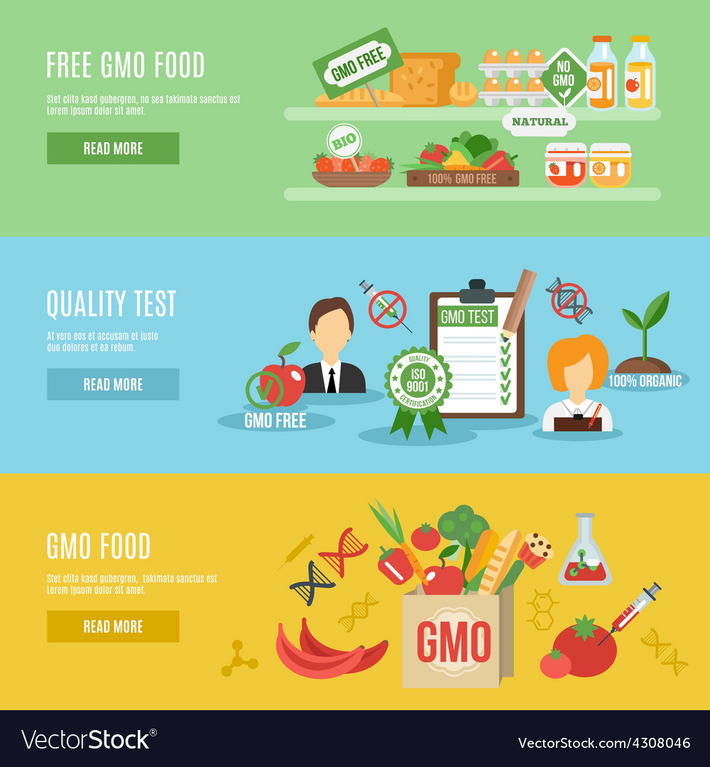 Gmo banner set vector | Price: 1 Credit (USD $1)