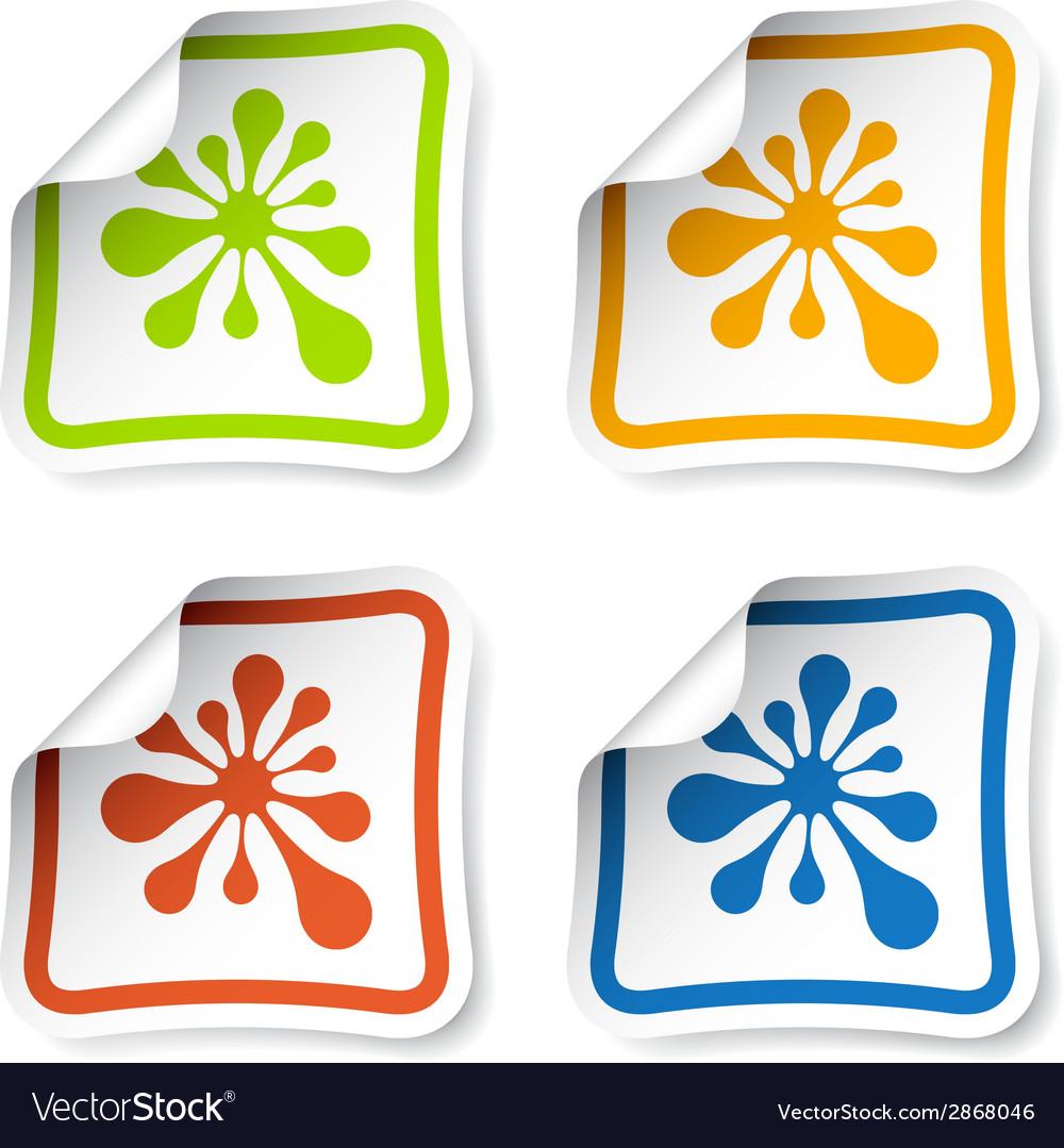 Ink blot stickers vector | Price: 1 Credit (USD $1)