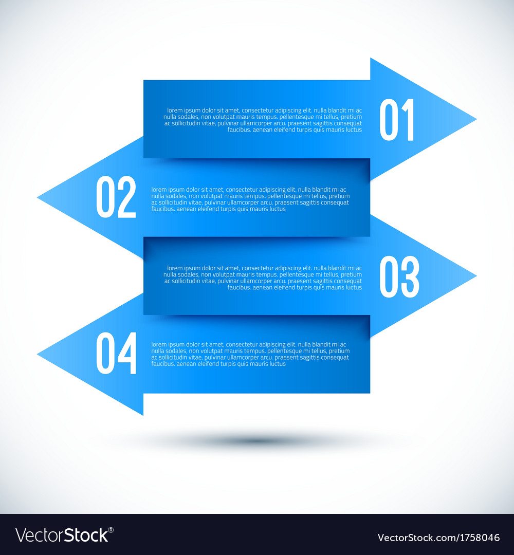 Modern business infographics arrow template vector | Price: 1 Credit (USD $1)