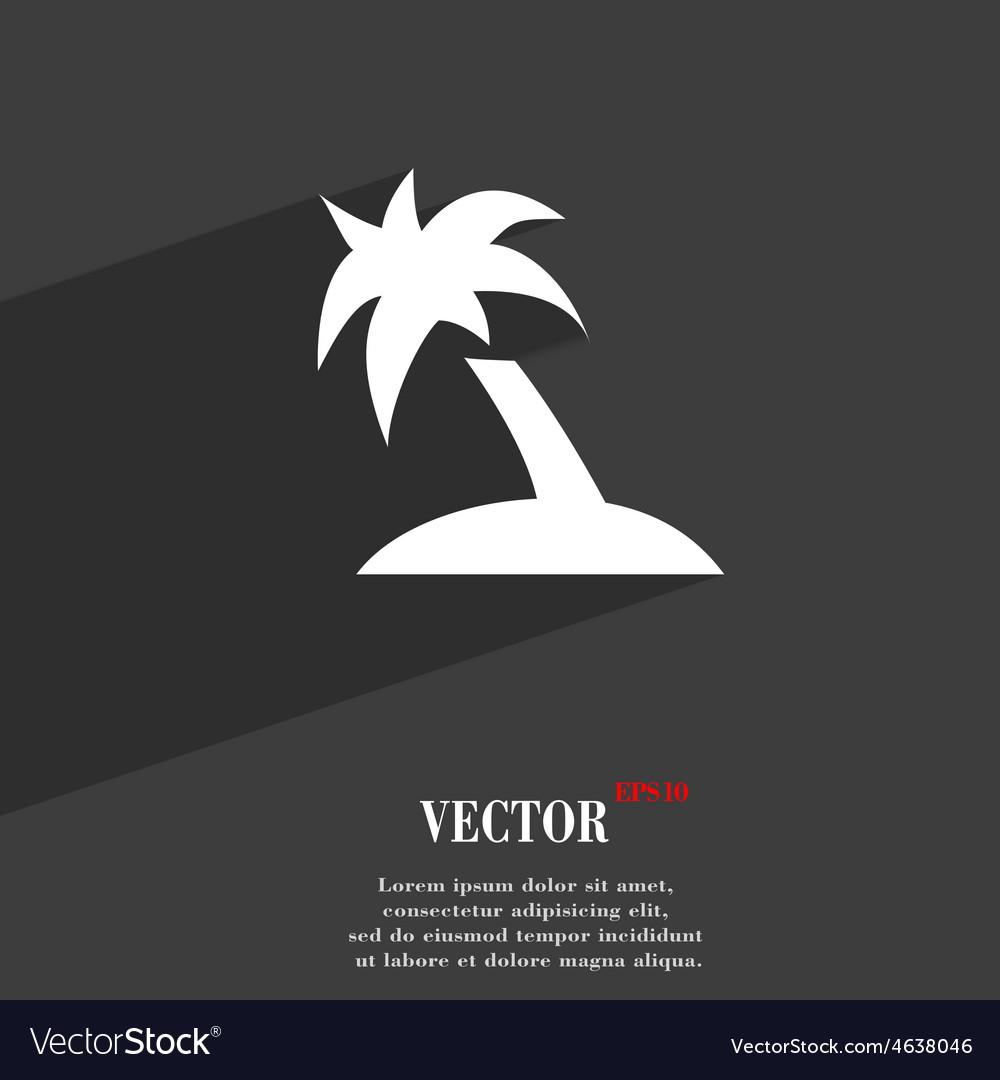 Palm tree travel trip icon symbol flat modern web vector   Price: 1 Credit (USD $1)