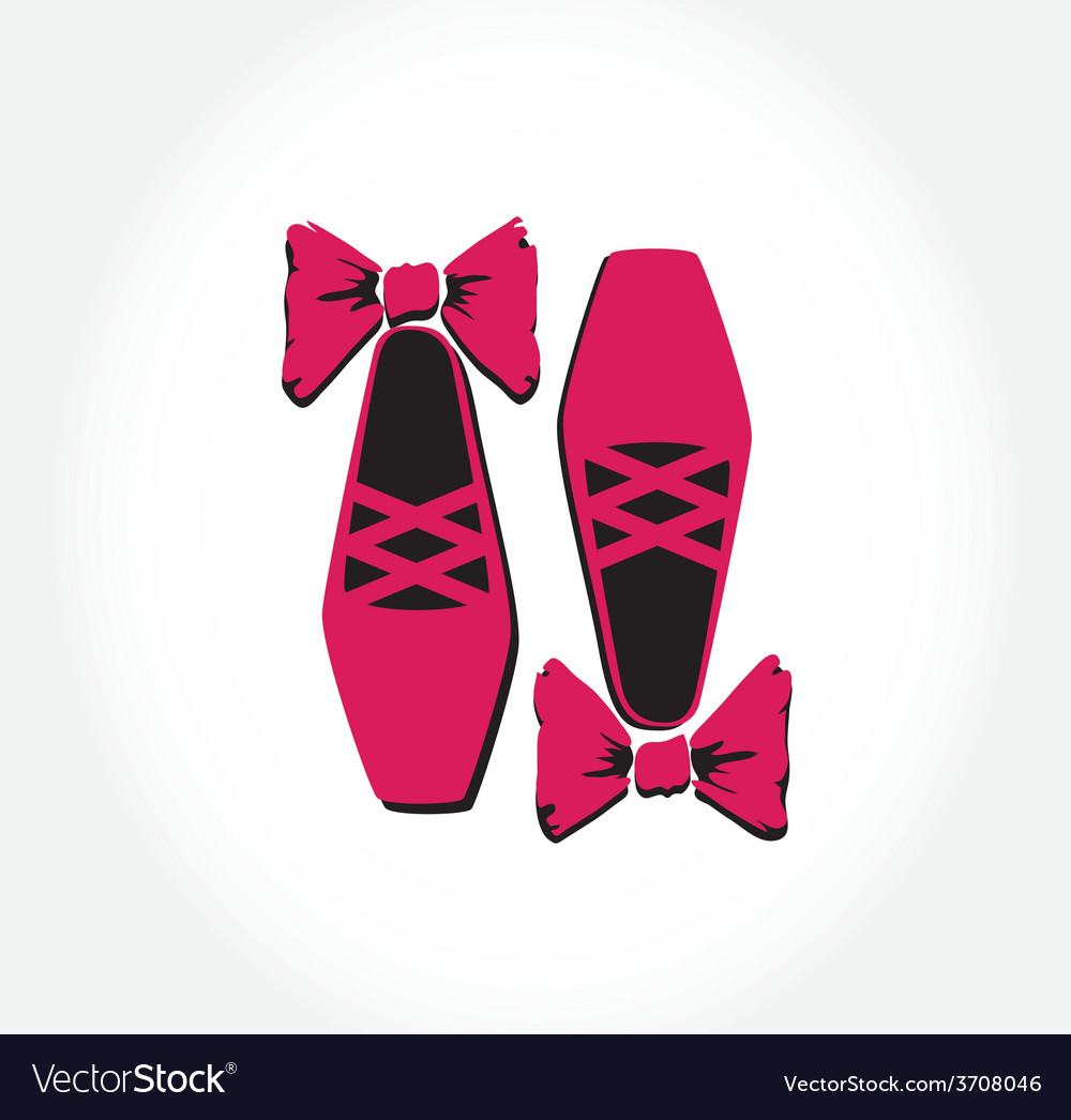 Pink ballet pointes shoes vector | Price: 1 Credit (USD $1)