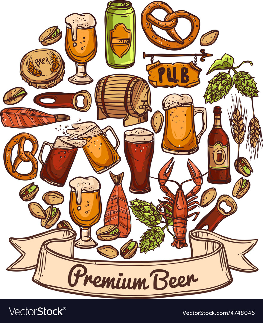 Premium beer concept vector | Price: 1 Credit (USD $1)