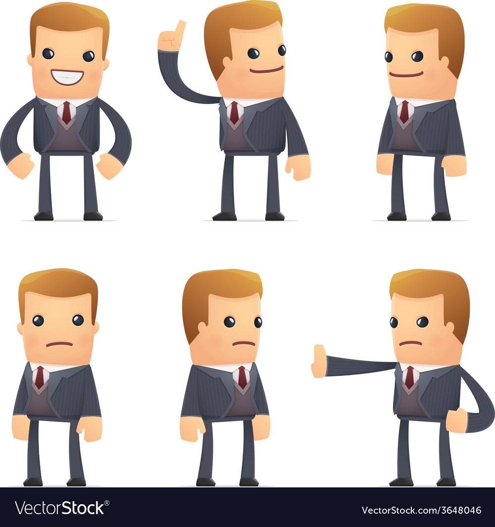Set of advisor character in different poses vector | Price: 1 Credit (USD $1)