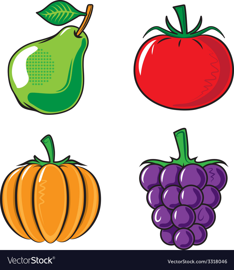 Vegetables collection vector | Price: 1 Credit (USD $1)