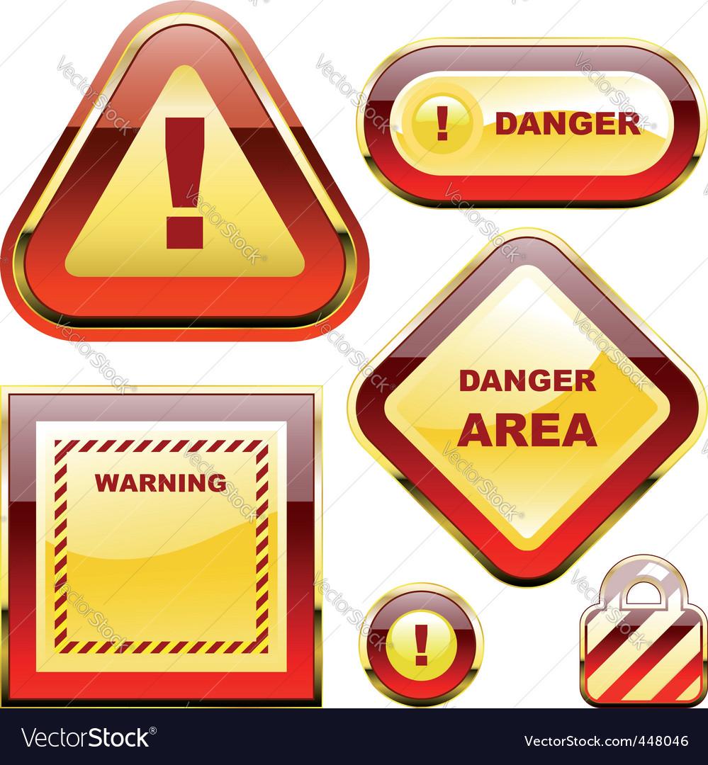 Warning signs vector | Price: 1 Credit (USD $1)