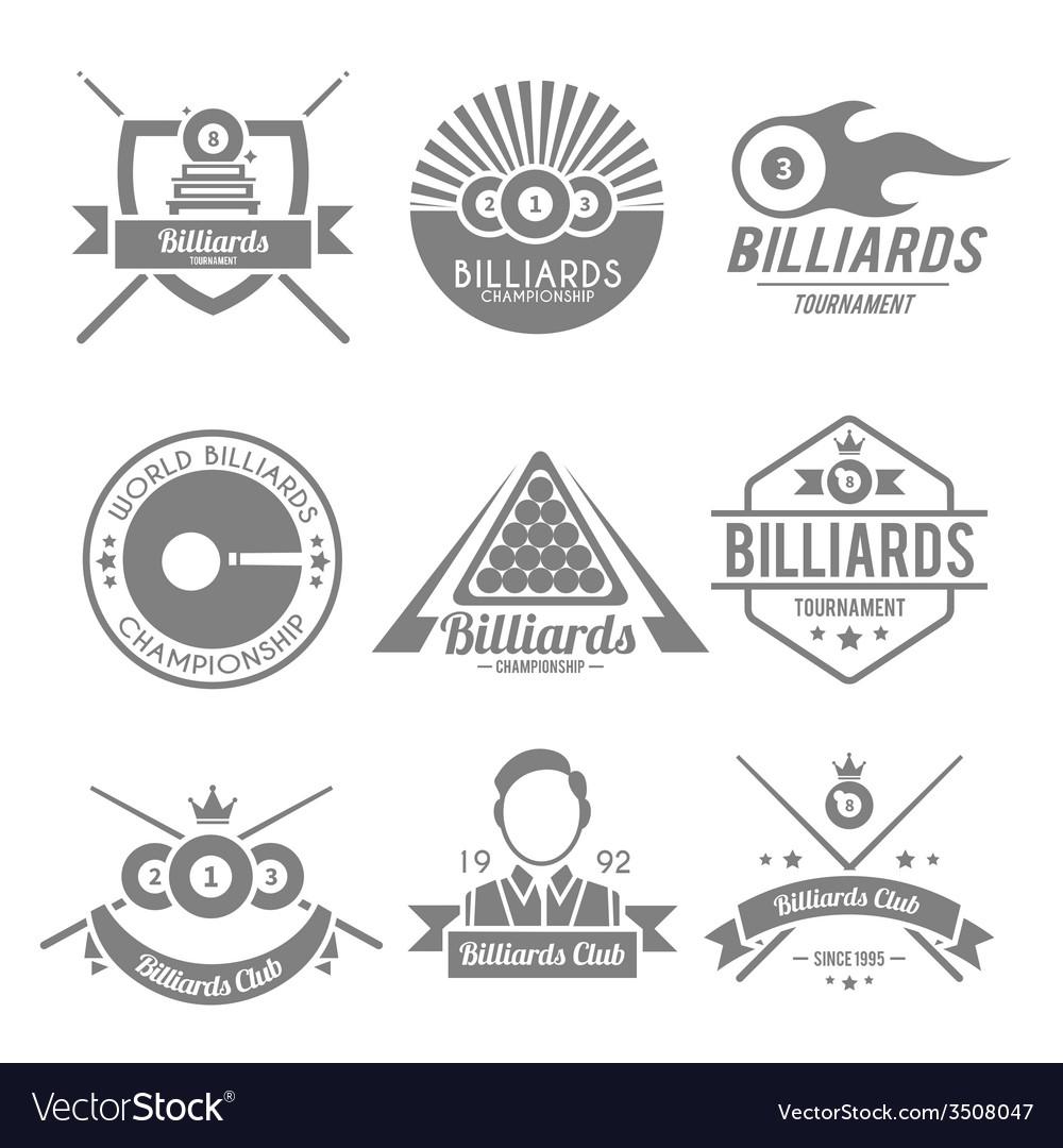 Billiards black label vector | Price: 1 Credit (USD $1)