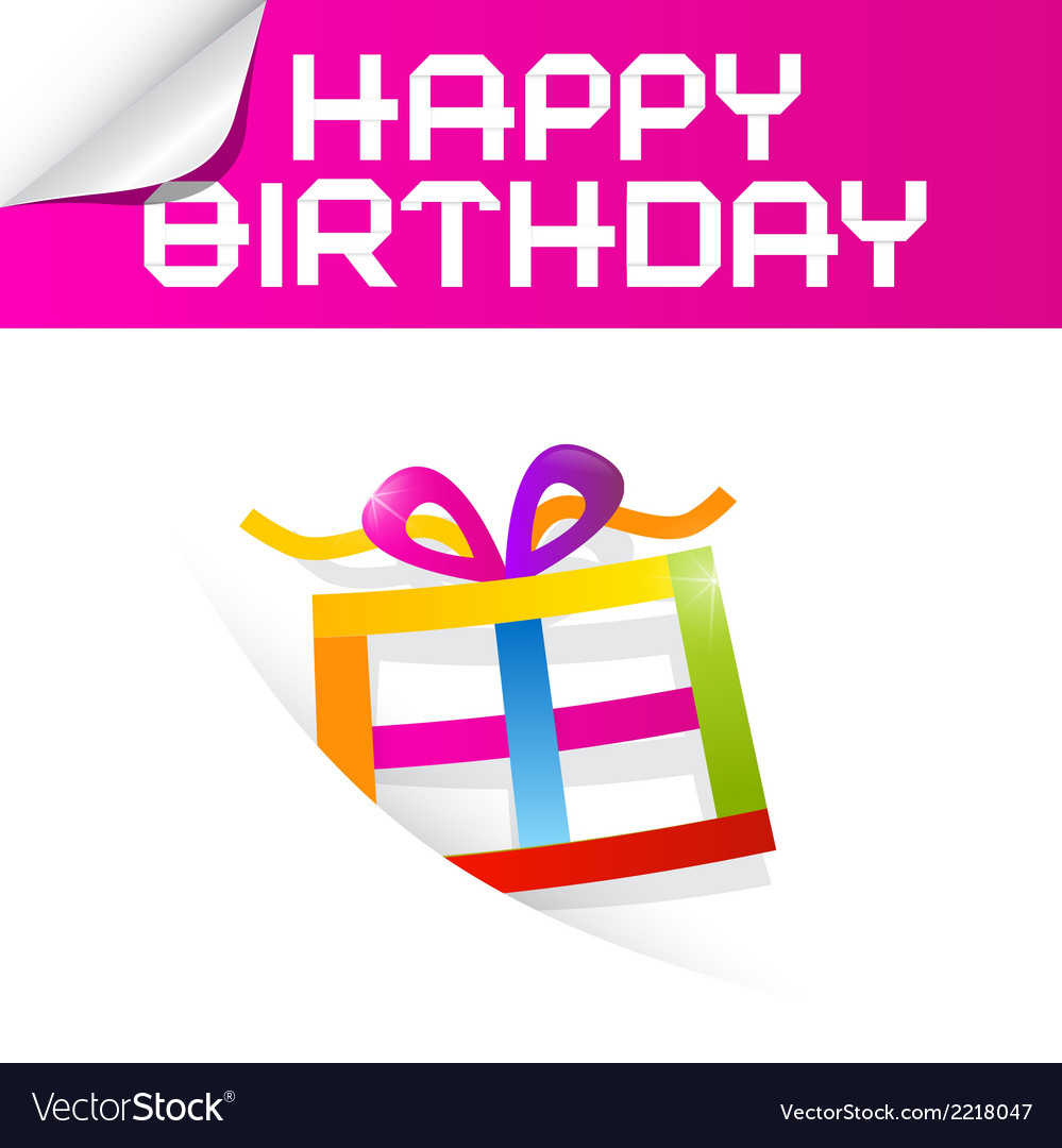 Birthday theme with colorful paper gift box vector | Price: 1 Credit (USD $1)