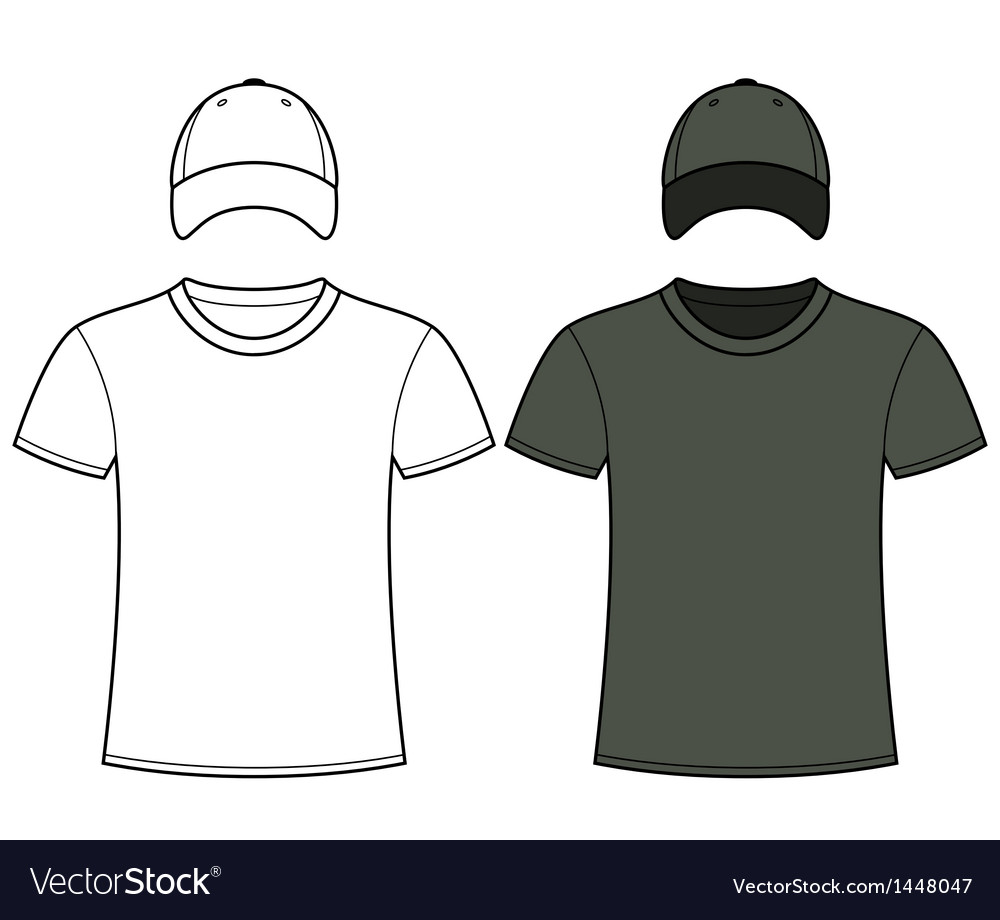 Blank t-shirt and cap template vector | Price: 1 Credit (USD $1)