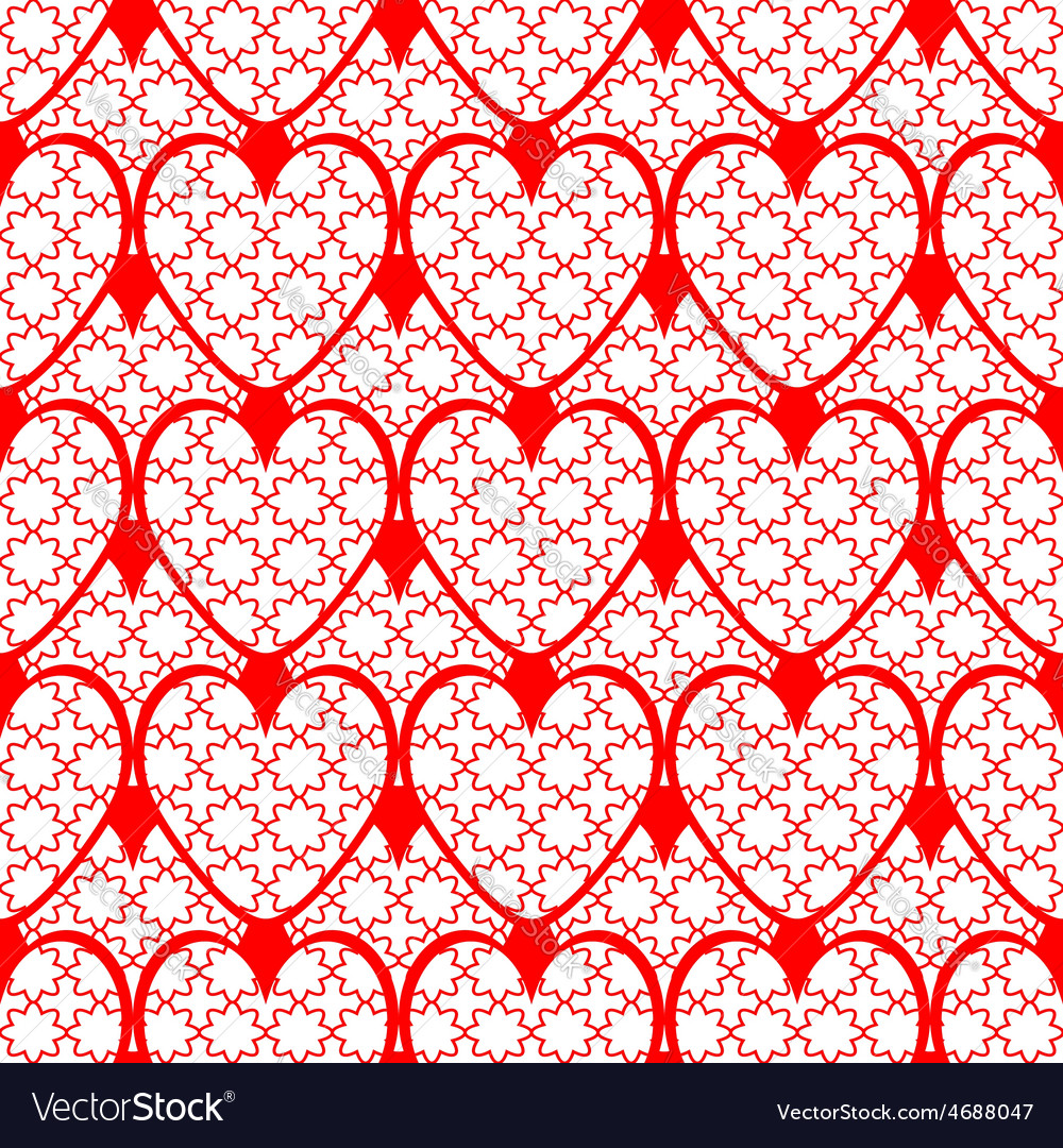 Design seamless red heart background vector | Price: 1 Credit (USD $1)