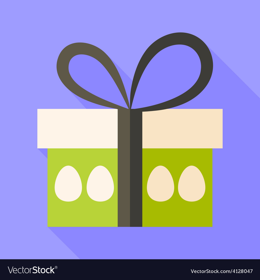 Easter present box with eggs vector | Price: 1 Credit (USD $1)