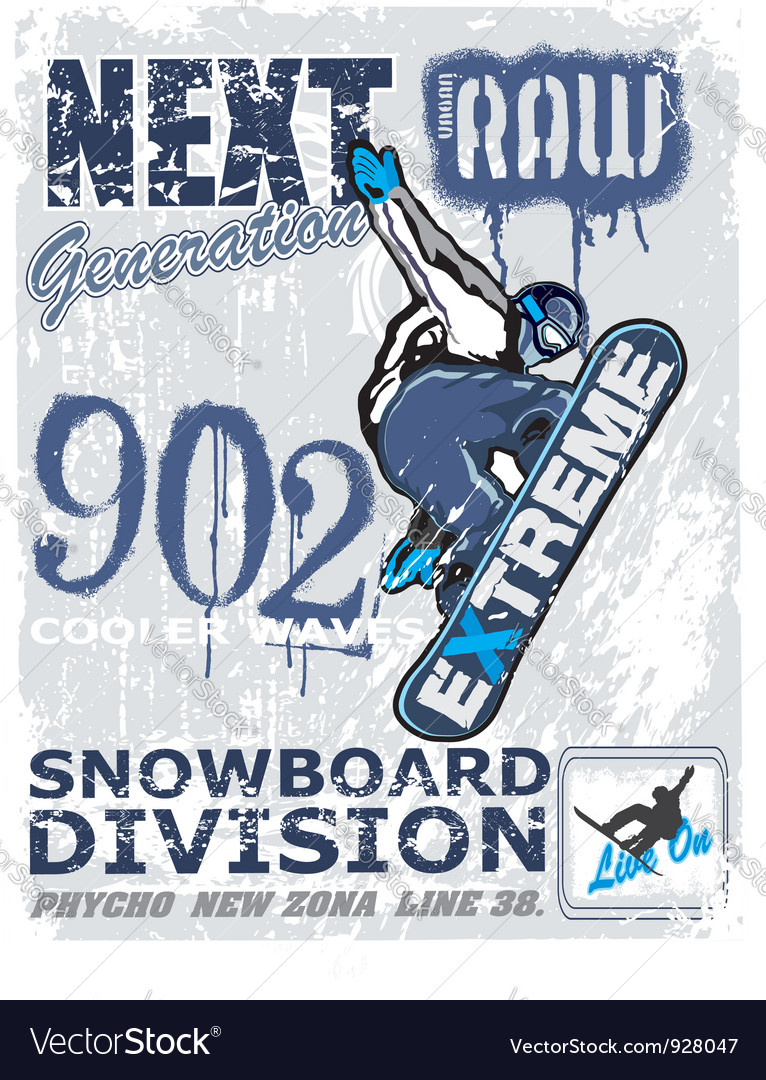 Extreme snow boarder vector   Price: 1 Credit (USD $1)