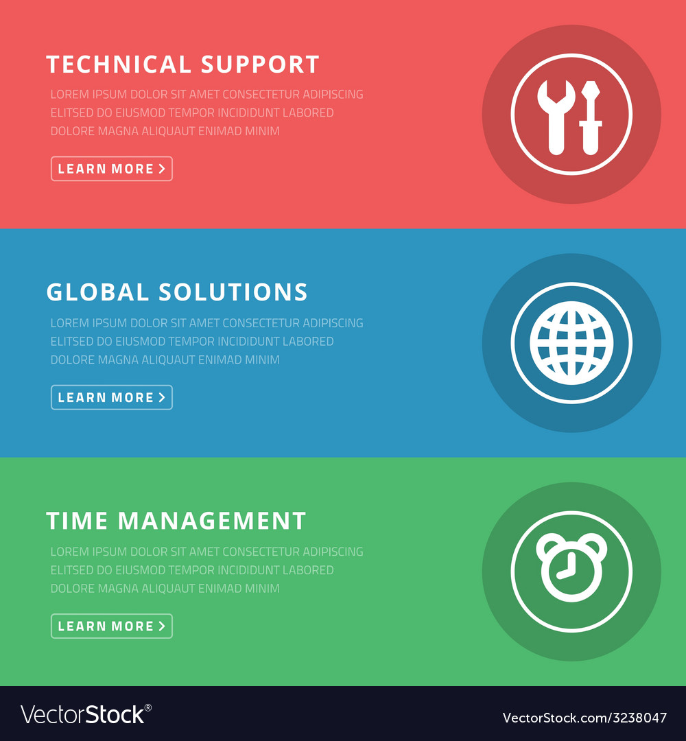 Flat design concept for technical support and vector | Price: 1 Credit (USD $1)