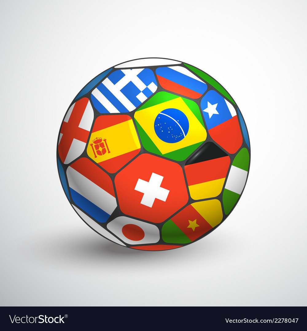 Football ball with different flags vector | Price: 1 Credit (USD $1)