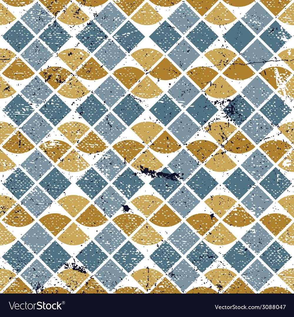 Geometric tiles seamless pattern vector | Price: 1 Credit (USD $1)