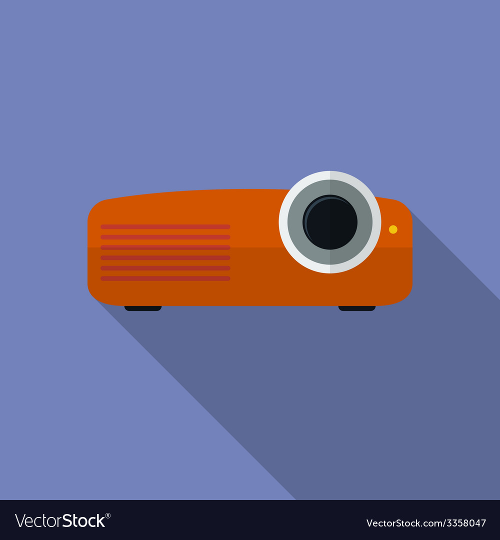Icon of projector flat style vector | Price: 1 Credit (USD $1)