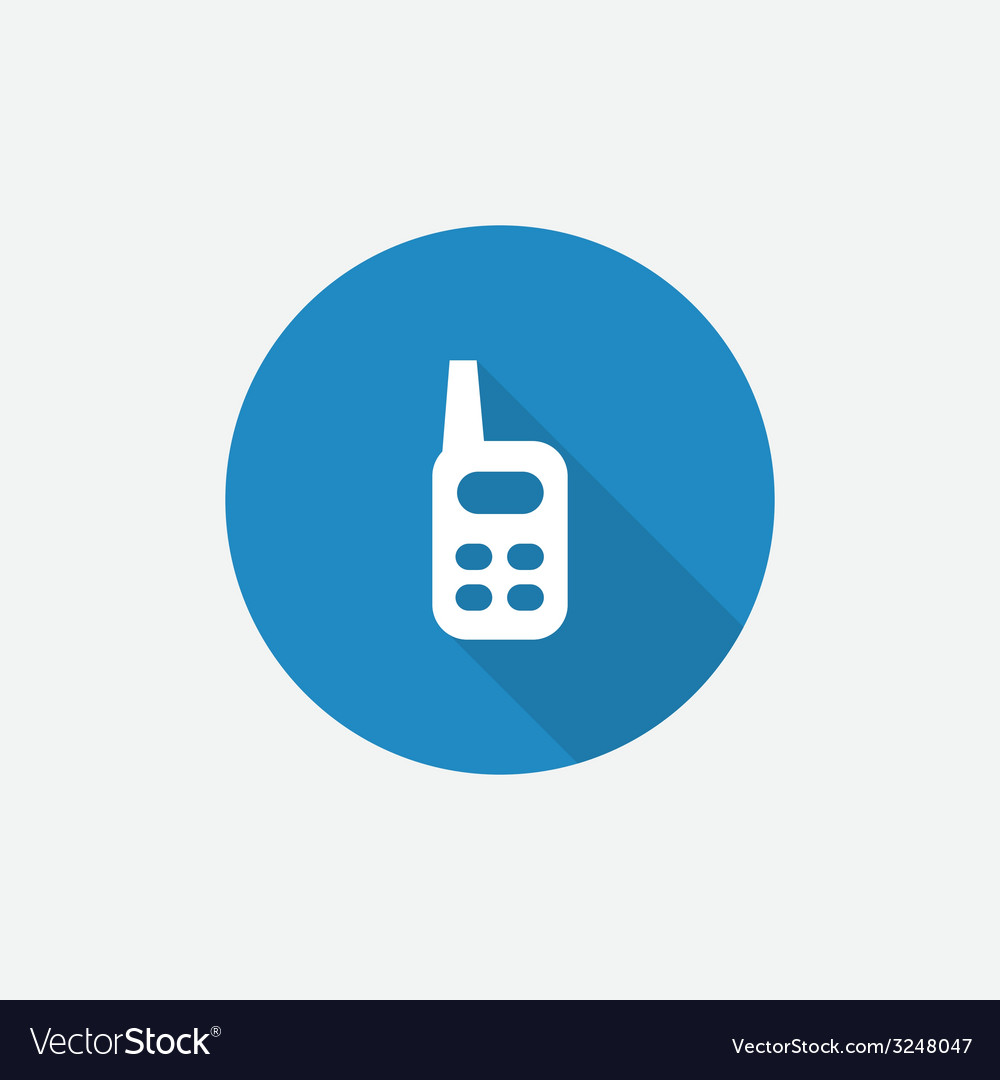 Radio flat blue simple icon with long shadow vector | Price: 1 Credit (USD $1)