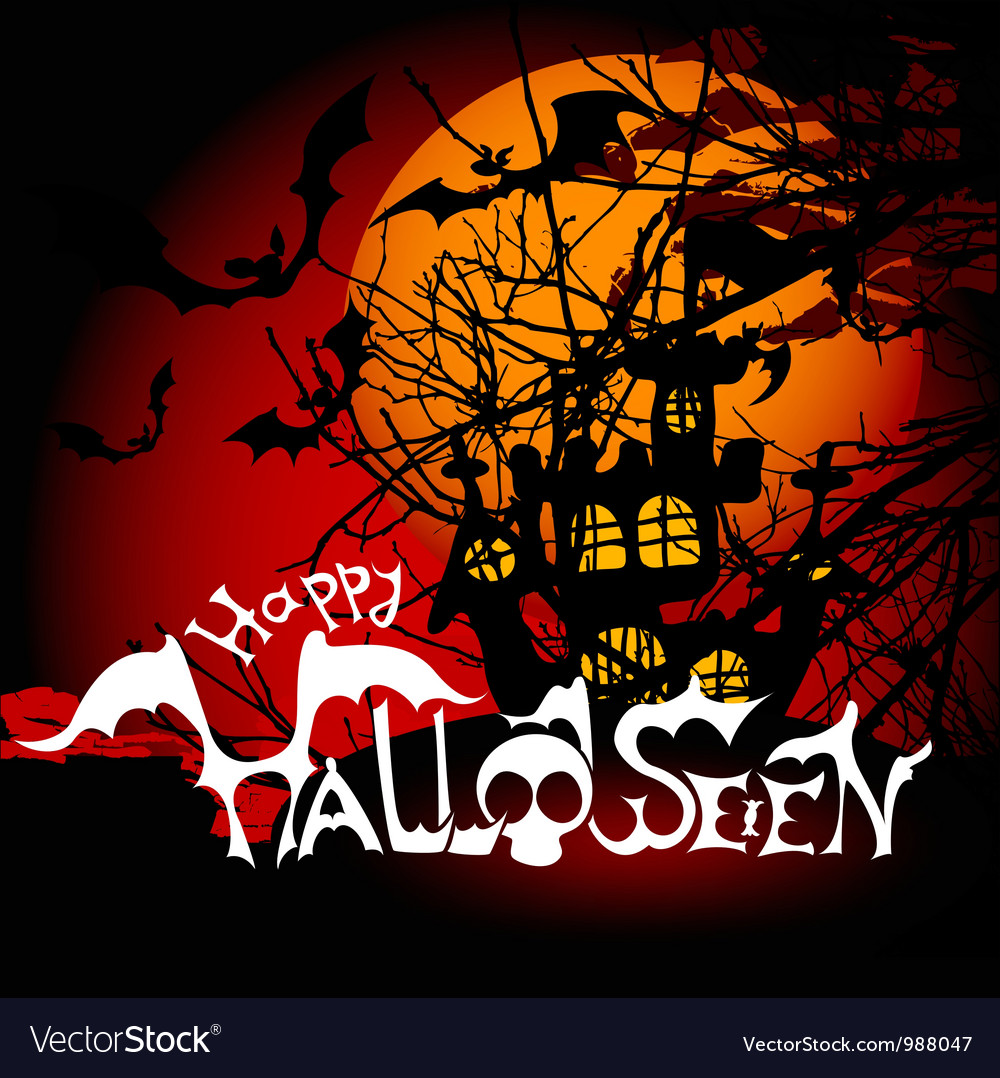 Scary halloween background vector | Price: 1 Credit (USD $1)