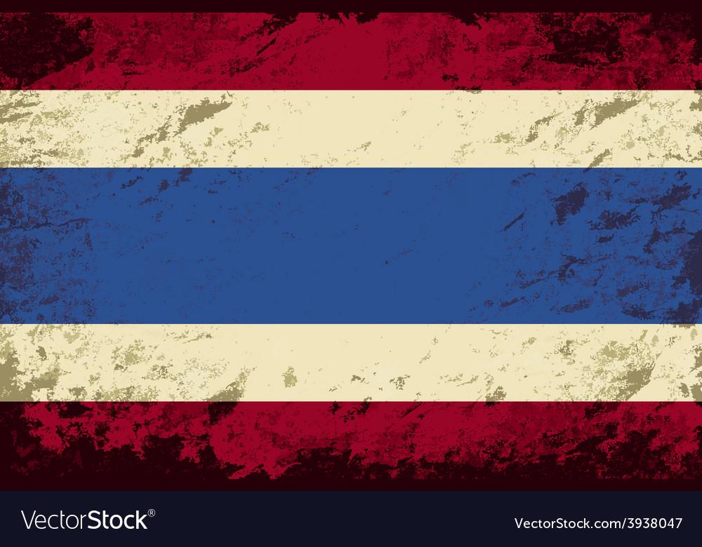 Thai flag grunge background vector | Price: 1 Credit (USD $1)
