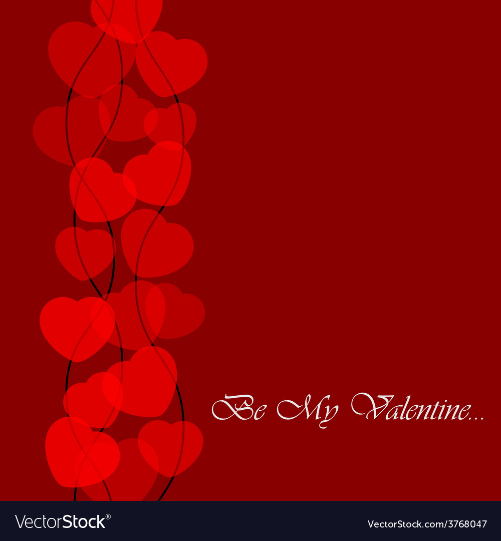 Valentines greeting card with translucent hearts vector | Price: 1 Credit (USD $1)