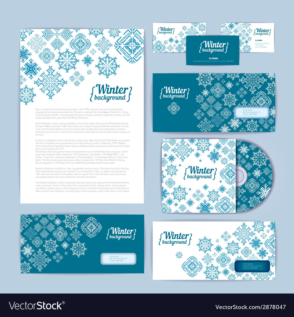 Winter holiday corporate identity vector | Price: 1 Credit (USD $1)