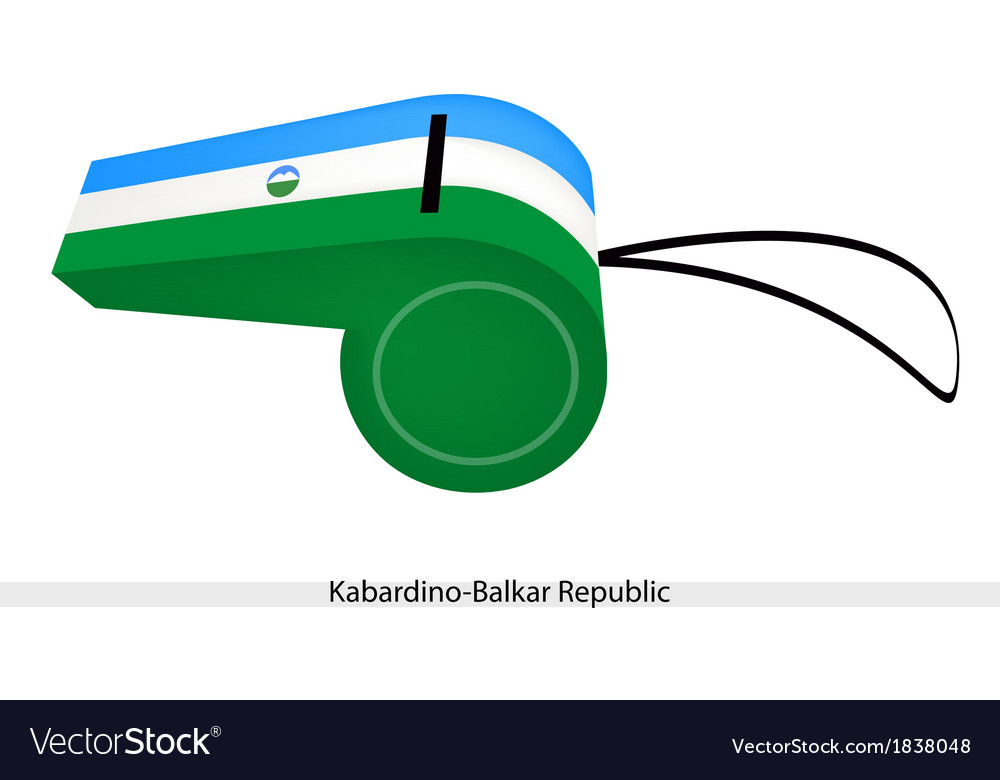 A whistle of the kabardino-balkar republic flag vector | Price: 1 Credit (USD $1)
