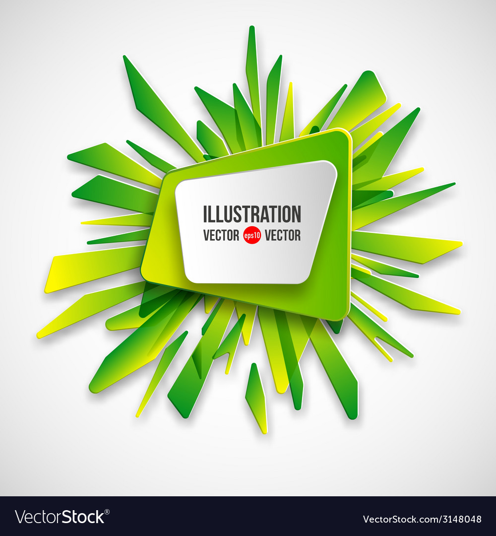 Abstract frame on a background of green fragments vector | Price: 1 Credit (USD $1)