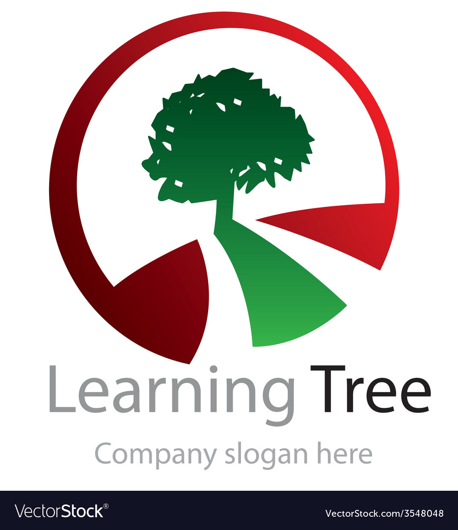 Abstract learning tree logo vector | Price: 1 Credit (USD $1)