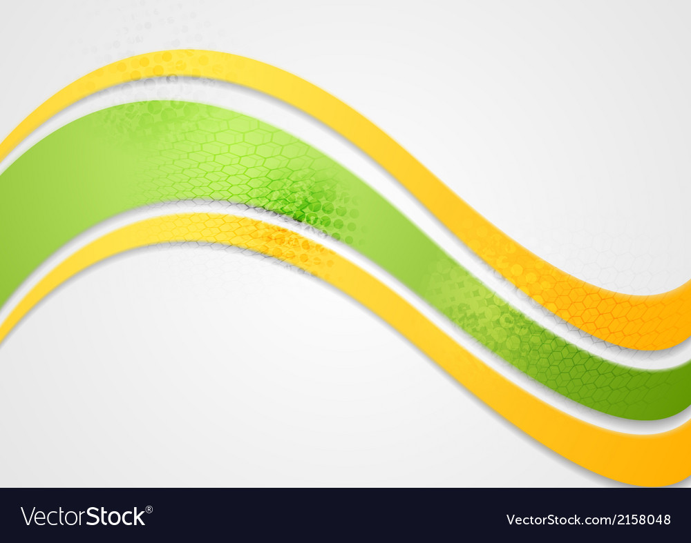 Abstract wavy colorful background vector | Price: 1 Credit (USD $1)