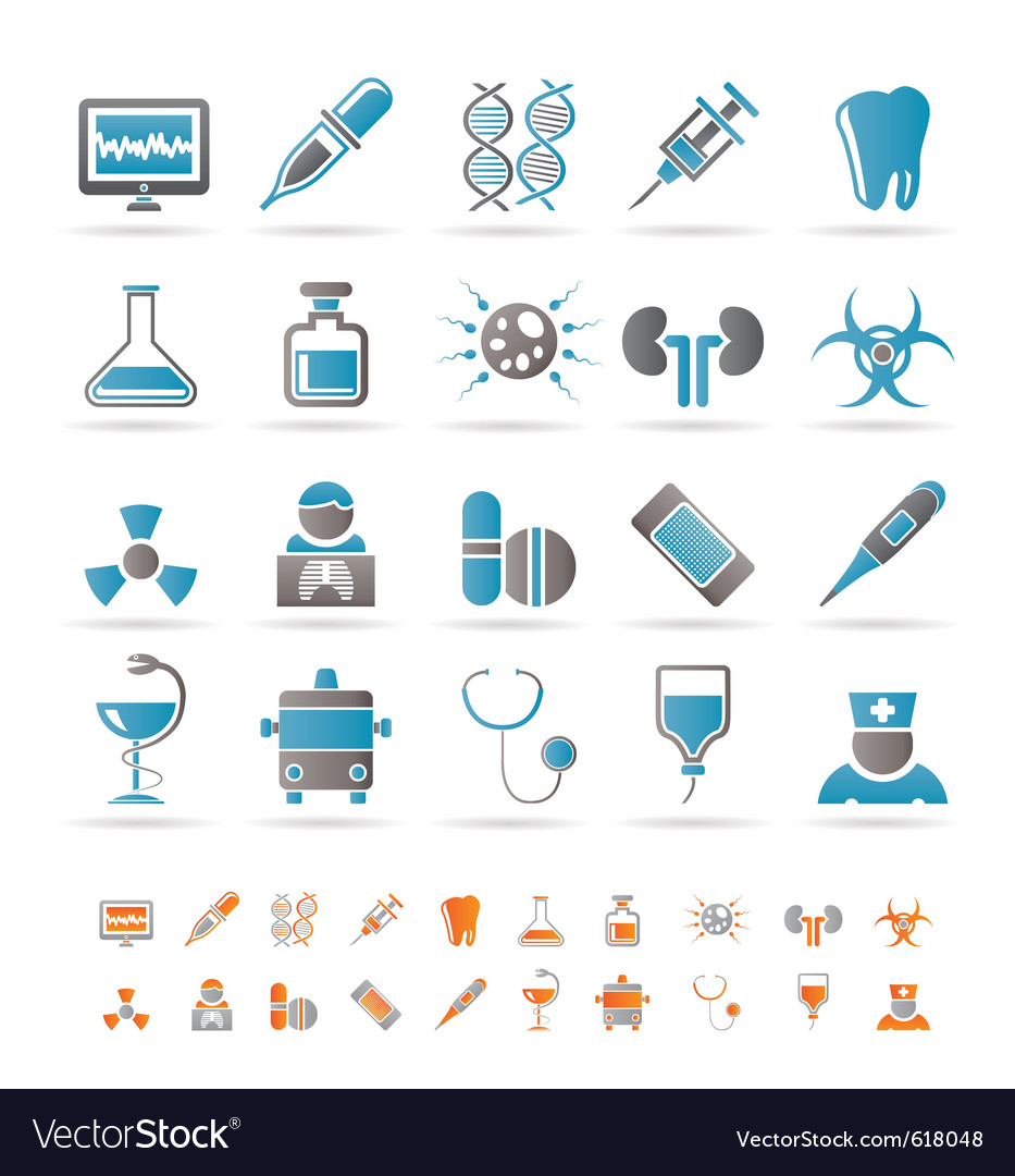 Healthcare and hospital icons vector | Price: 1 Credit (USD $1)