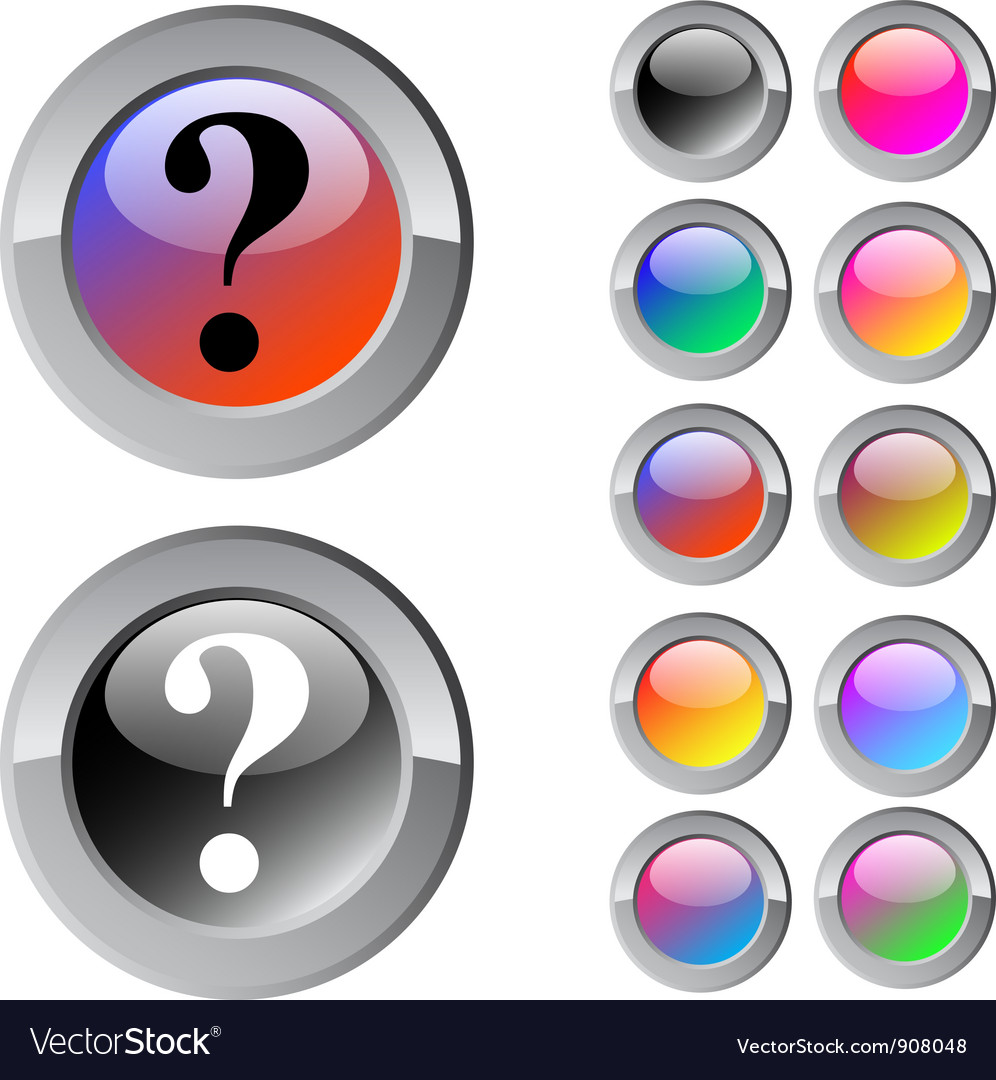 Help multicolor round button vector | Price: 1 Credit (USD $1)