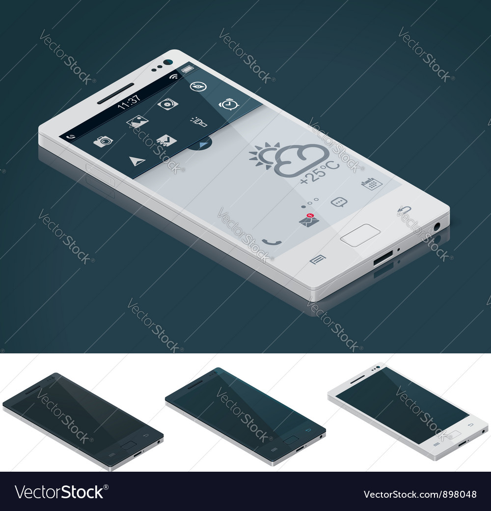Isometric generic smartphone vector | Price: 3 Credit (USD $3)