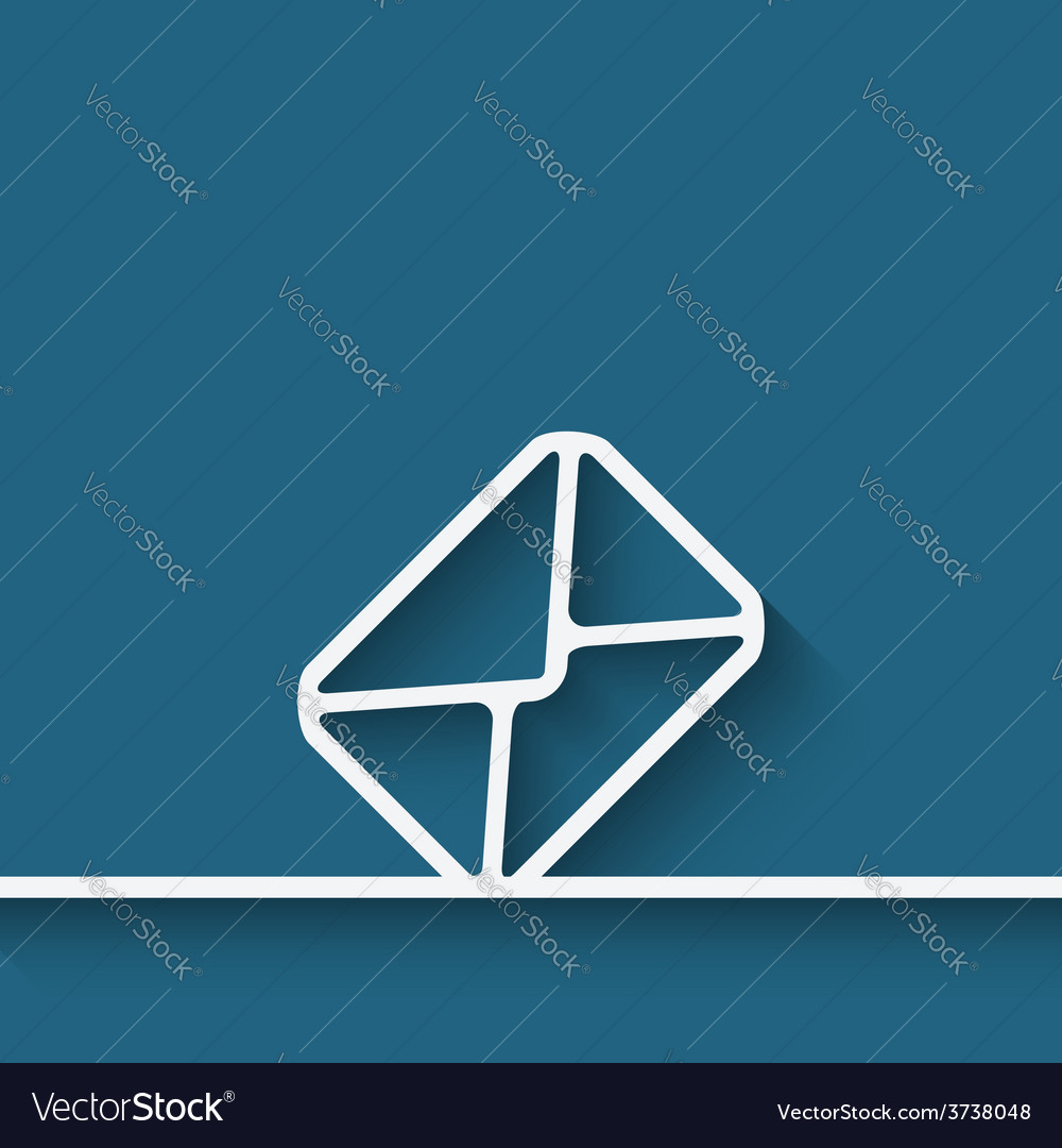 Mail envelope symbol vector | Price: 1 Credit (USD $1)