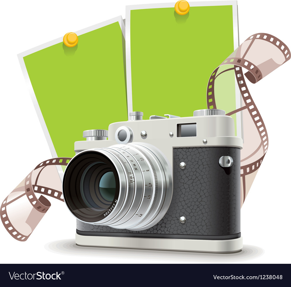 Old photo camera collage vector | Price: 5 Credit (USD $5)