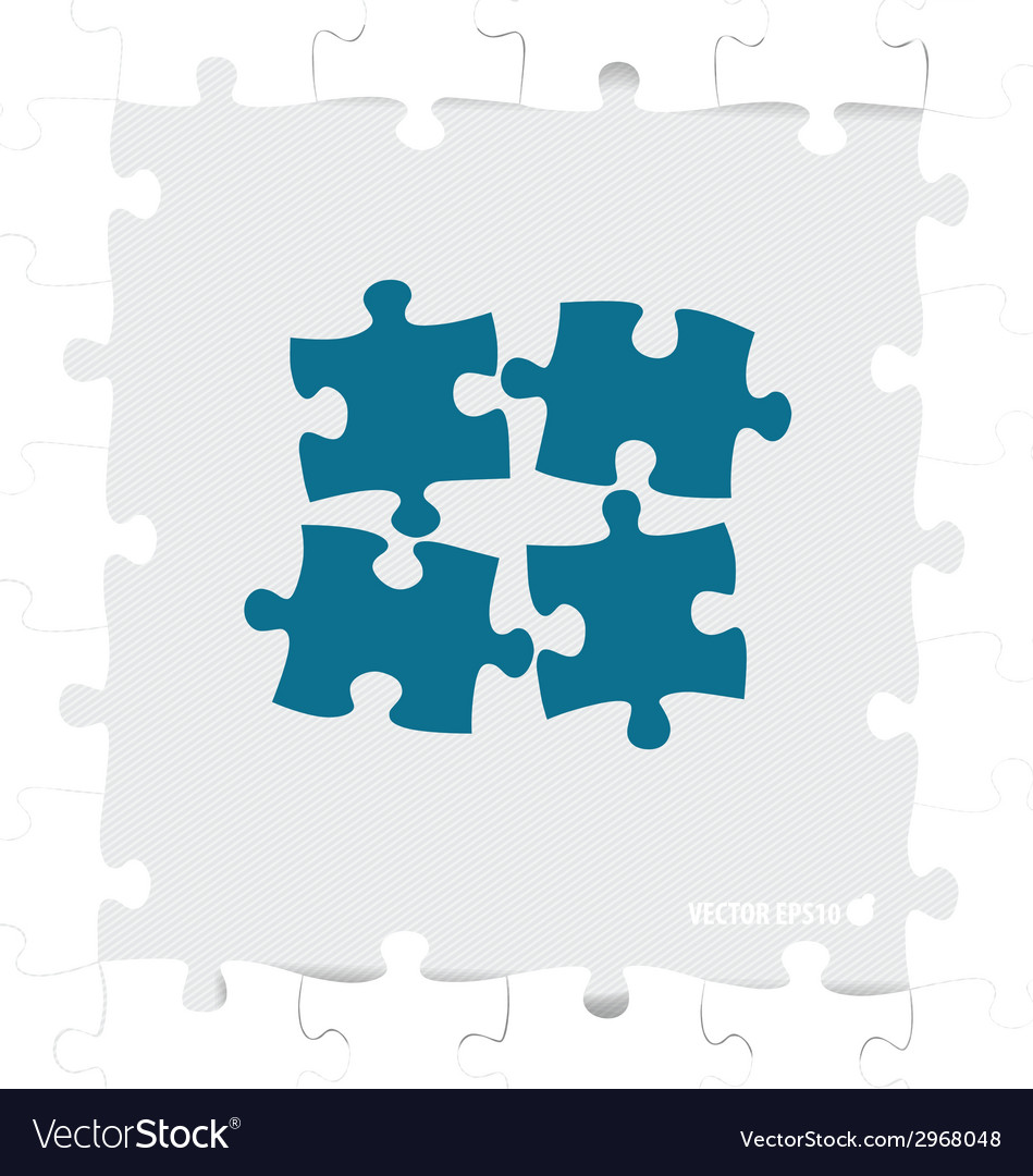 Paper cut of puzzle vector | Price: 1 Credit (USD $1)