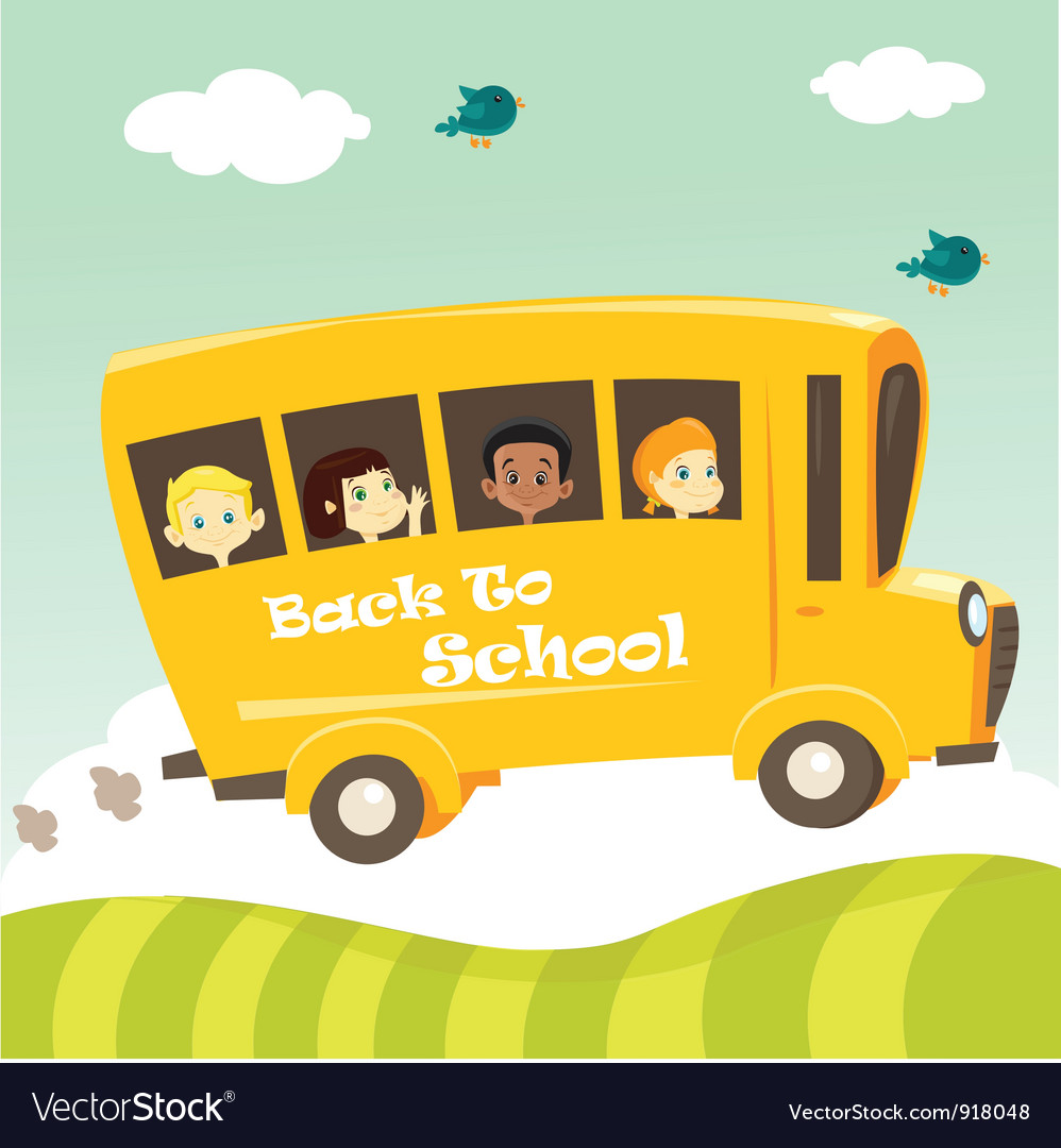 School bus vector | Price: 1 Credit (USD $1)