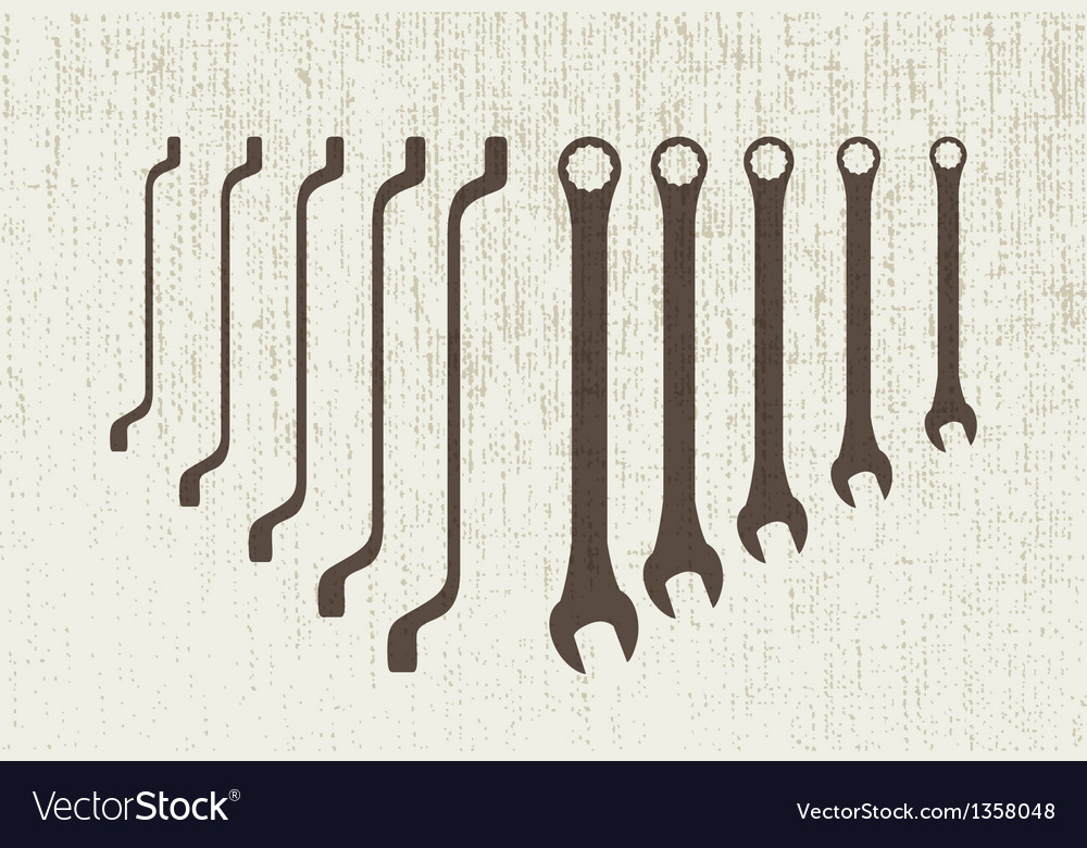 Spanners set vector | Price: 1 Credit (USD $1)