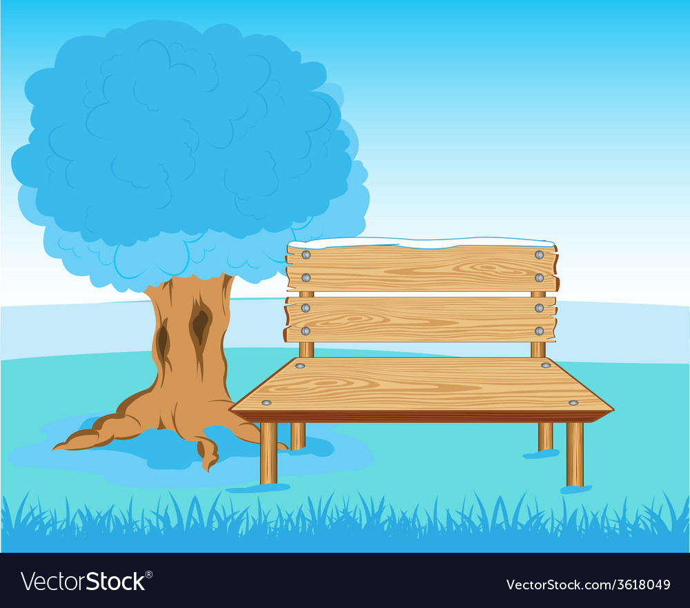 Bench in park vector | Price: 1 Credit (USD $1)