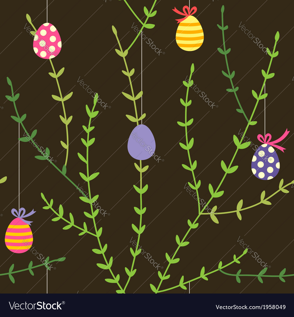 Branch easter pattern vector | Price: 1 Credit (USD $1)