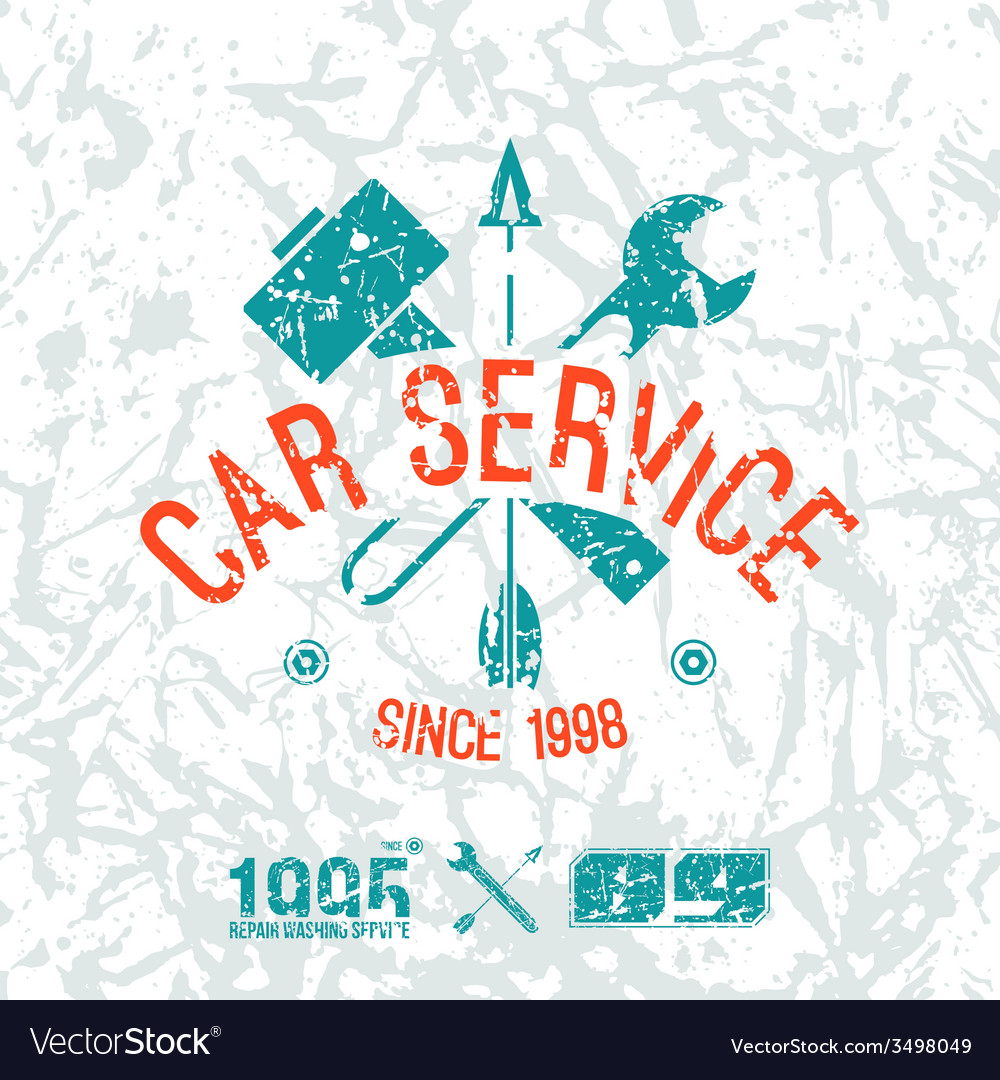 Car service emblem vector | Price: 1 Credit (USD $1)