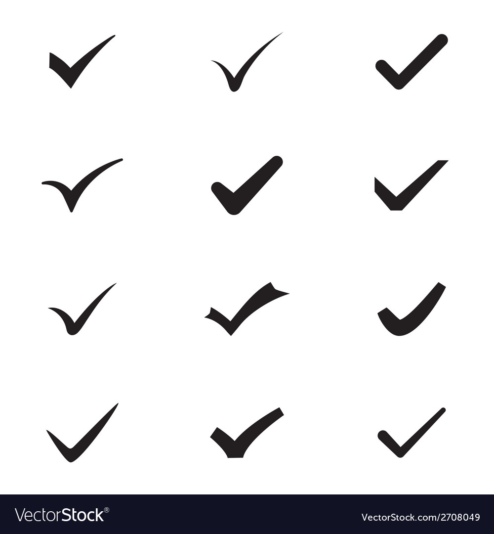 Checkmarks vector | Price: 1 Credit (USD $1)