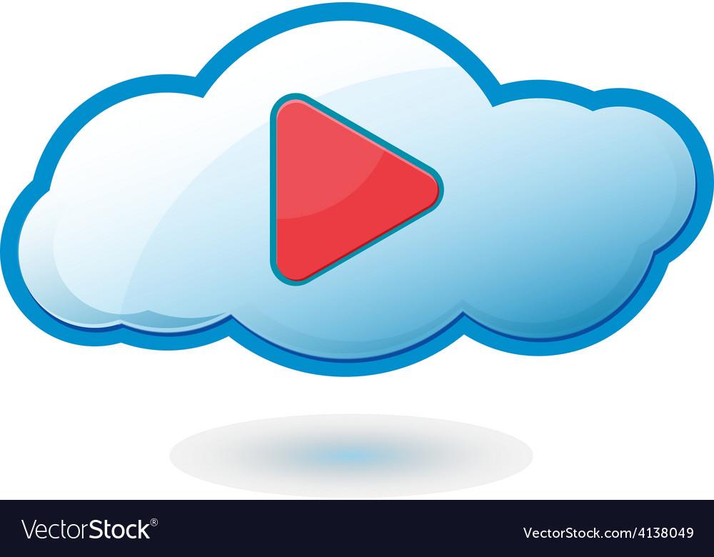 Cloud play icon symbol vector | Price: 1 Credit (USD $1)