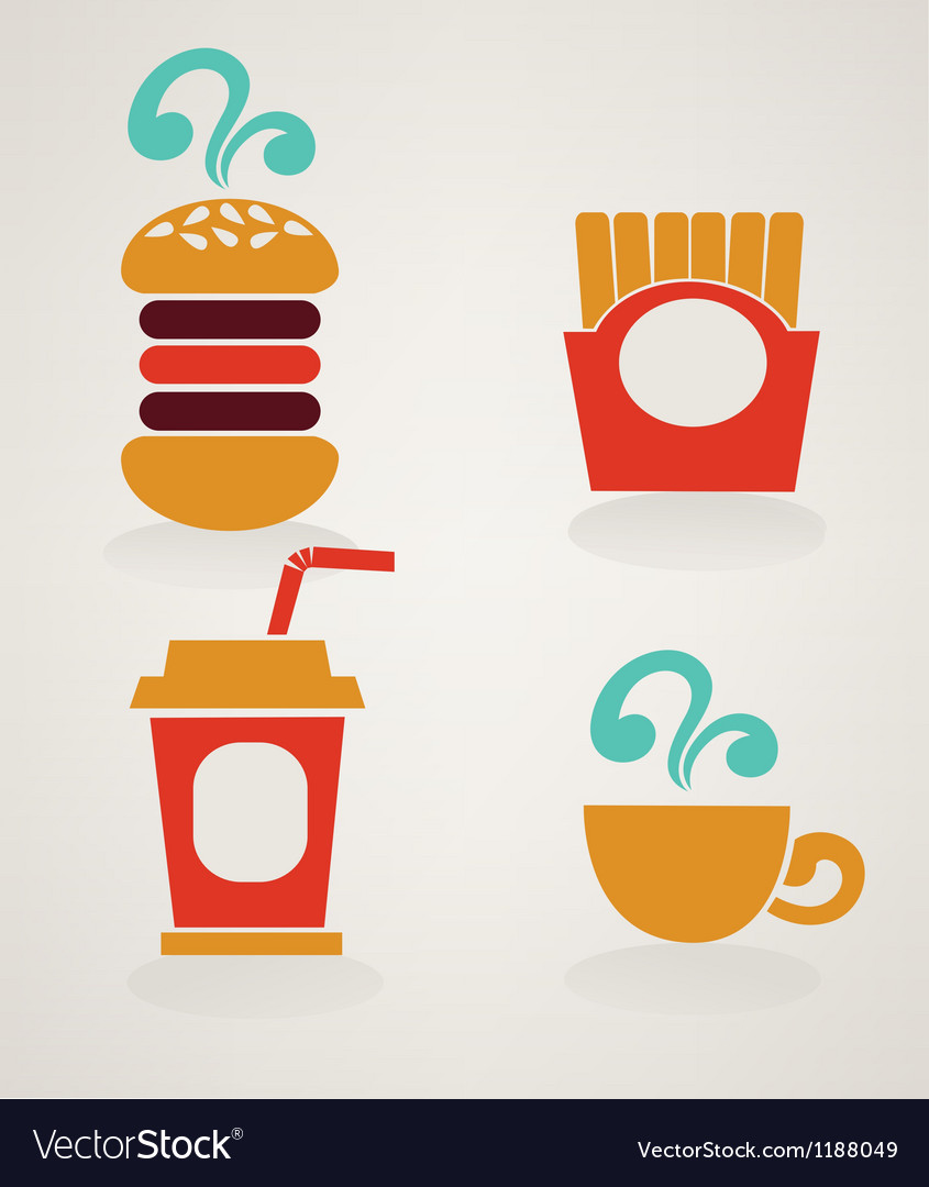 Fast food icons in info graphic style vector | Price: 1 Credit (USD $1)