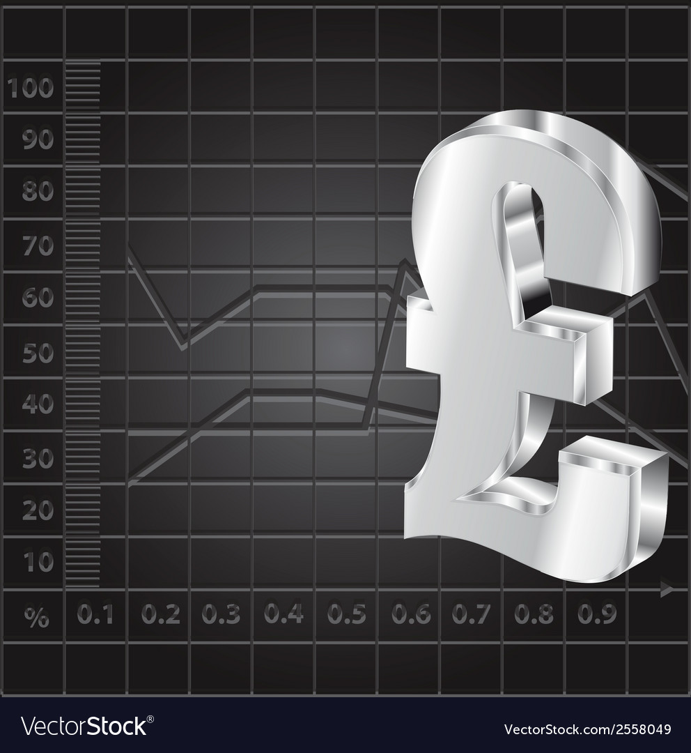 Financial background with 3d lira sign vector | Price: 1 Credit (USD $1)
